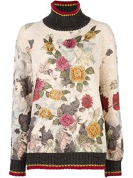 Antonio Marras Floral Embroidered Sweater White
