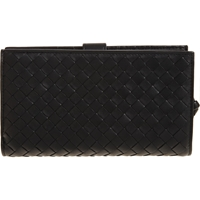 Bottega Veneta Intrecciato Continental Wallet Black