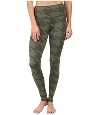 Alo Yoga High Waisted Airbrush Leggings Jungle Houndstooth Women's Casual Pants Olive