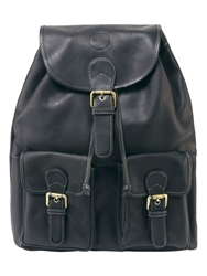 Tog 24 Arundel Leather Rucksack Black