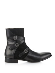 Alexander Mcqueen Leather And Suede Boots