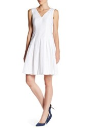 Anne Klein Eyelet Stripe Dress White