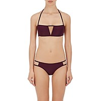 Chromat Women's Caged Back Bandeau Bikini Top Red