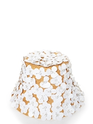 Kate Spade Madison Ave. Collection Paillette Flower Hat Fresh White