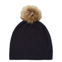 Warehouse Cashmere Hat Navy