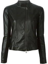Emporio Armani Stand Up Collar Jacket Black