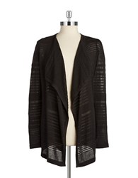 Calvin Klein Striped Knit Cardigan Black