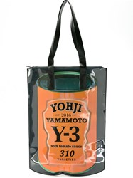 Y 3 'Can' Print Shopping Bag Black