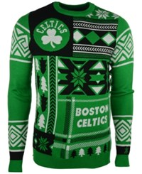 Forever Collectibles Men's Boston Celtics Patches Christmas Sweater Green White