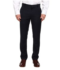 Perry Ellis Slim Fit Flat Front Neat Pant Midnight Blue Men's Dress Pants