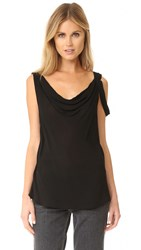 Wilt Draped Neck Shell Blouse Black