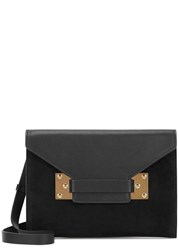 Sophie Hulme Milner Black Suede And Leather Clutch