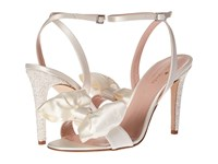 Kate Spade Idella Ivory Satin Silver White Glitter Women's Shoes Gold