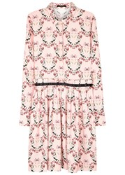 Mother Of Pearl Hurley Floral Print Twill Shirt Dress Pink