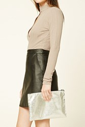 Forever 21 Metallic Faux Leather Clutch