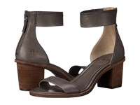 Frye Brielle Back Zip Sandal Charcoal Soft Vintage Leather High Heels