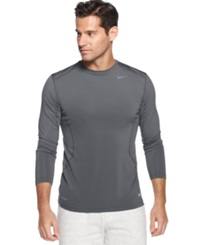 Nike T Shirt Pro Combat Dri Fit Fitted Long Sleeve Tee
