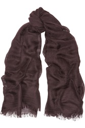 Jil Sander Cashmere And Silk Blend Voile Scarf Red