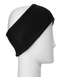 Portolano Cashmere Honeycomb Headband Black