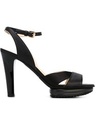 Hogan Stiletto Sandals Black