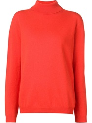 Jil Sander Turtle Neck Sweater Yellow And Orange