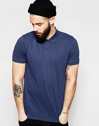 Only And Sons Pique Polo Shirt Navy Blue
