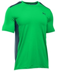 Under Armour Men's Heatgear Raid Fitted T Shirt Neon Green