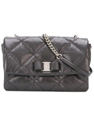 Salvatore Ferragamo Medium Quilted Crossbody Bag Grey