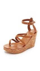 K. Jacques Cunegonde Wedge Sandals Pul Natural