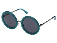 Von Zipper Fling Blue Translucent Charcoal Grey Sport Sunglasses