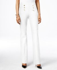 Inc International Concepts Petite High Waist Flare Leg Pants Only At Macy's Bright White