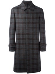 Hevo Plaid Mid Coat Grey