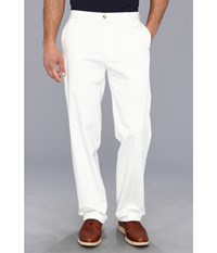 Dockers Signature Khaki D3 Classic Fit Flat Front White Men's Casual Pants