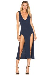 State Of Being Jordy Knit Midi Dress Navy