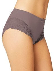 Fine Lines Luxuries Microfiber Mid Rise Briefs Mocha