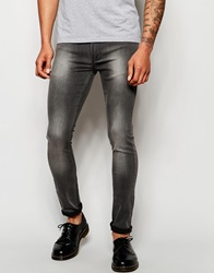 Religion Hero Super Skinny Jeans In Ice Wash Washedgrey