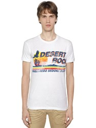 Dsquared Desert Rock Print Cotton Jersey T Shirt