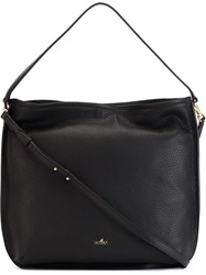 Hogan Logo Hobo Bag Black