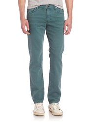 7 For All Mankind Slimmy Garment Washed Jeans Moss