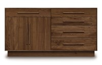 Copeland Furniture Moduluxe 35 Inch 4 Drawer On Right 1 Drawer Over 2 Door On Left Dresser