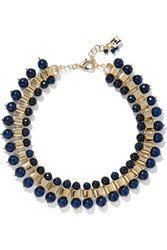 Rosantica Allodola Gold Tone Quartz Necklace Storm Blue