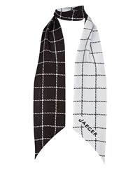Jaeger Silk Reversible Check Scarf