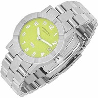 Raymond Weil Parsifal W1 Women's Lime Dial Stainless Steel Date Watch