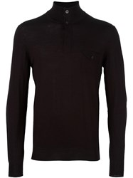 Paolo Pecora Turtleneck Fine Knit Jumper Brown