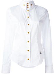 Vivienne Westwood Red Label Contrast Button Down Longsleeved Shirt White