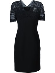 Versace Sheer Sleeve Dress Black