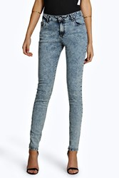 Boohoo Luella Acid Wash Denim Jeans Grey