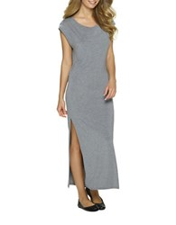 Felina Endless Summer Heathered Chemise Gown Heather Charcoal