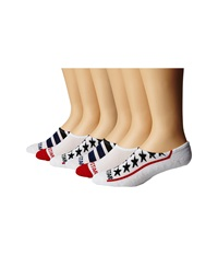 Converse Stars And Stripes Red White Blue Men's No Show Socks Shoes Multi
