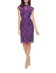 Decode 1.8 Scalloped Lace Dress Plum